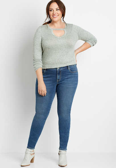 Plus Size m jeans by maurices™ Dark Wash Skinny Jean