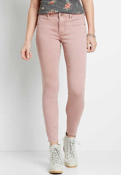 High Rise Pink Double Button Jegging Made With REPREVE®