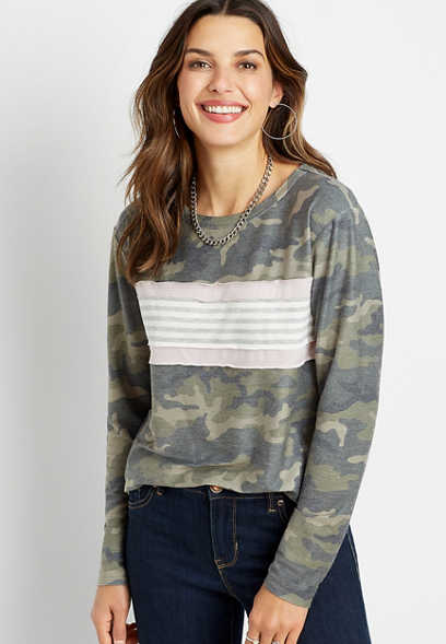 Camo Stripe Sweatshirt