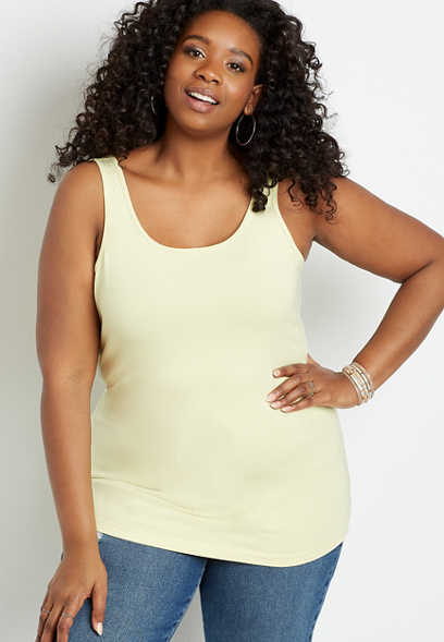 Plus Size Basic Scoop Neck Tank Top