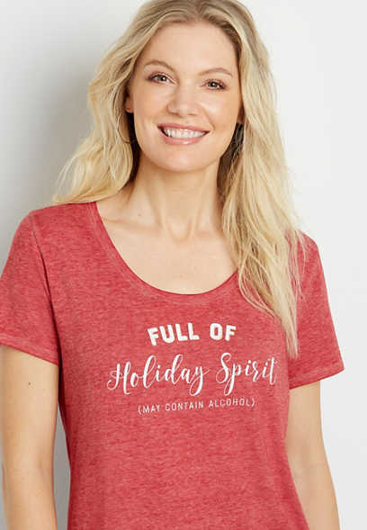 Full Of Holiday Spirit Graphic Tee