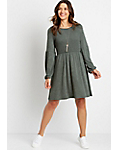 Maurices Women's Smocked Top Cozy Babydoll Dress