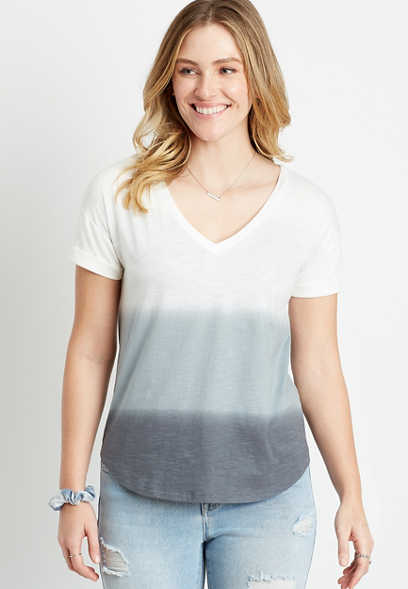 24/7 Gray Ombre Drop Shoulder Classic Tee
