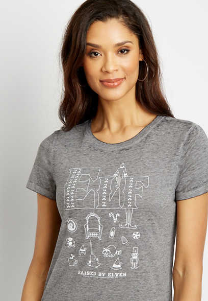 Gray Elf Graphic Tee