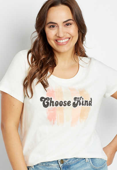 Plus Size Choose Kind Graphic Tee