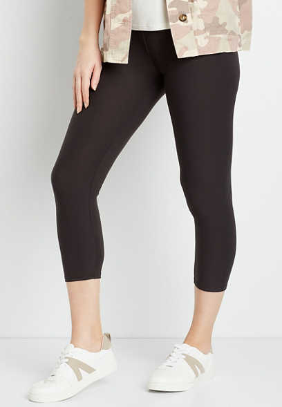 High Rise Gray Ultra Soft Capri Legging