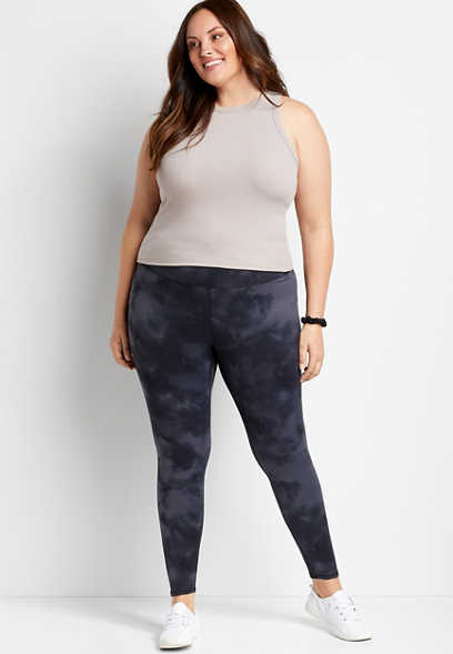 Plus Size High Rise Tie Dye Full Length Luxe Legging