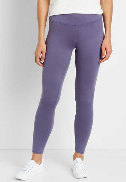 High Rise Purple Full Length Luxe Legging