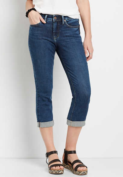Silver Jeans Co.® Suki Dark Rolled Hem Capri