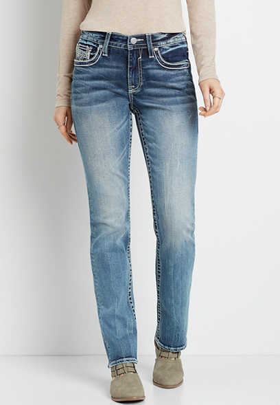 Vigoss® Medium Wash Straight Leg Jean