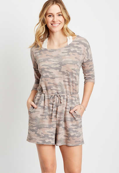 24/7 Camo French Terry Romper