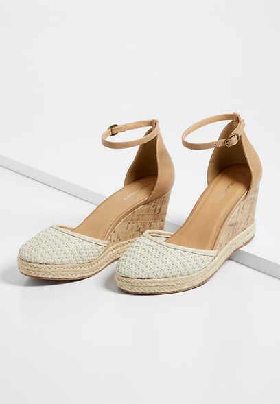 Faith Ivory Espadrille Wedge