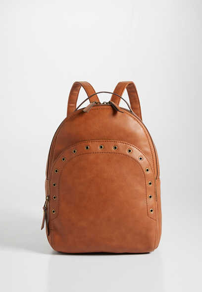 Cognac Grommet Backpack