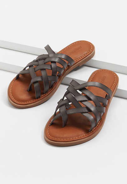 Lexie Gray Strappy Flat Sandal