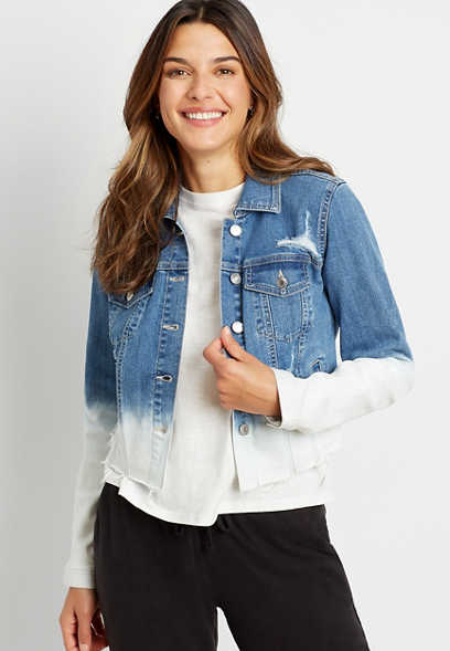 Medium Wash Ombre Denim Jacket