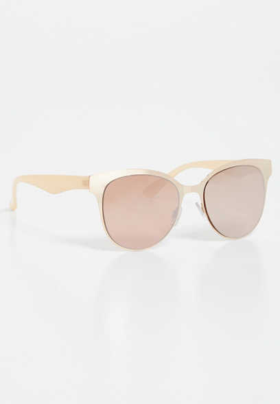 Metal Round Clubmaster Sunglasses