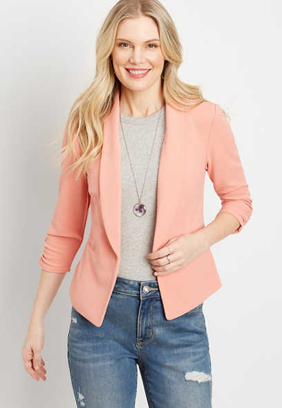 Rose Open Front Blazer