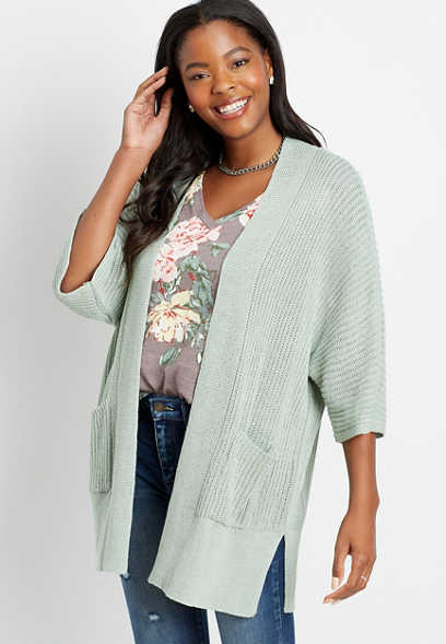 Solid Knit Pocket Cardigan