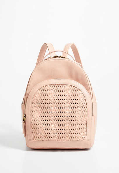 Blush Woven Backpack