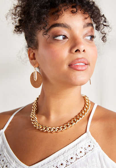 Dainty Chunky Gold Chain Necklace