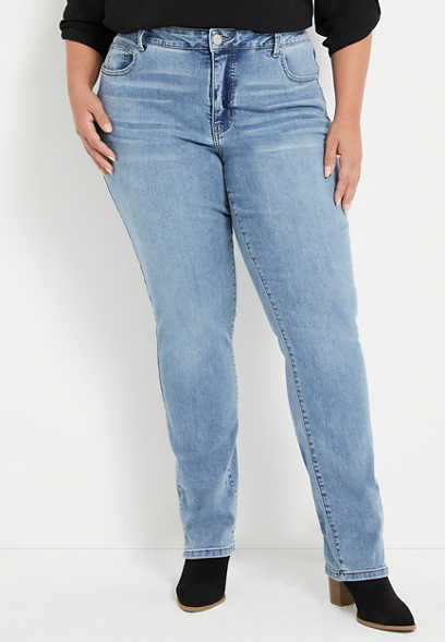 Plus Size Everflex™ High Rise Curvy Medium Baby Bootcut Jean