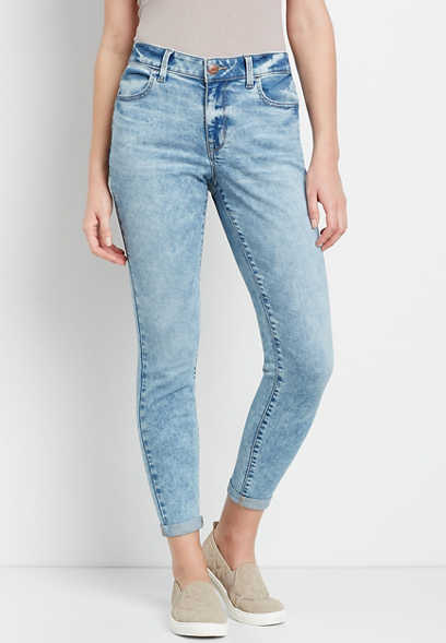 High Rise Medium Marble Wash Jegging