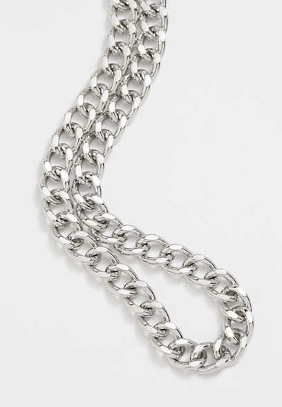 Dainty Chunky Silver Chain Necklace