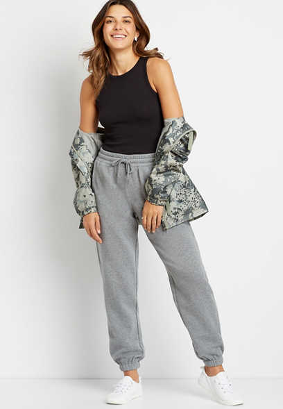 Gray Relaxed Fit Jogger Sweatpant
