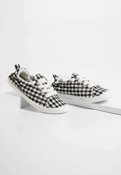 Mariah Gingham Scrunch Back Sneaker