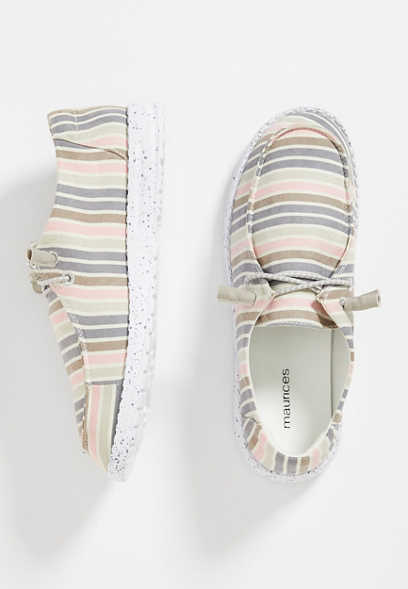 Sienna Multi Stripe Slip On Sneaker