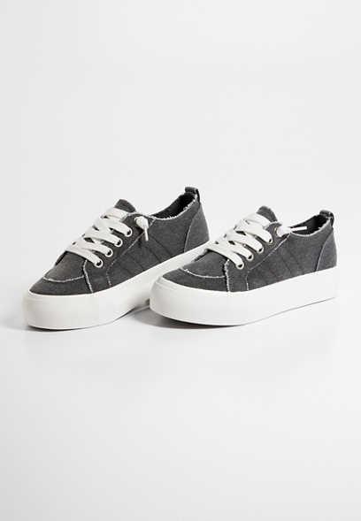 Maurices Sadie Black Platform Sneaker