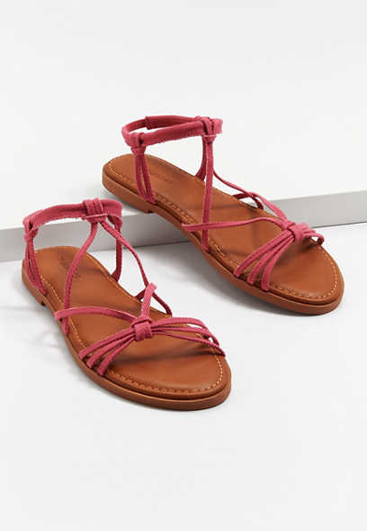 Lacey Pink Strappy Sandal
