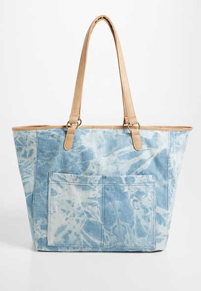 Maurices Blue Tie Dye Tote