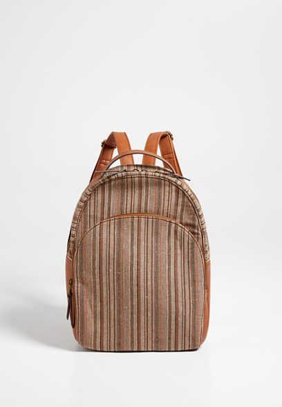 Natural Stripe Backpack