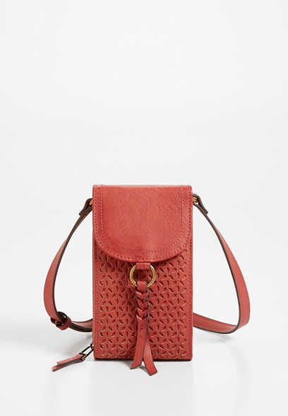 Red Cut Out Crossbody Bag