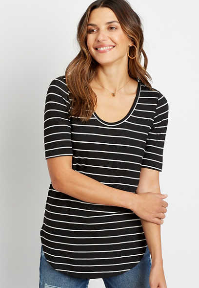 24/7 Black Striped Flawless Tee