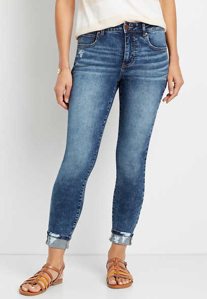 Everflex™ High Rise Dark Wash Skinny Ankle Jean
