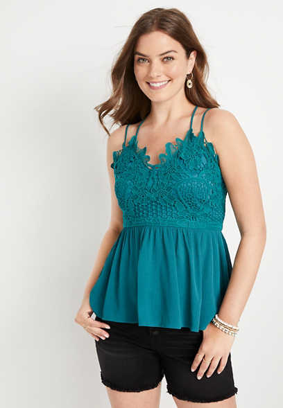 Maurices Lace Top Babydoll Women's Tank Top