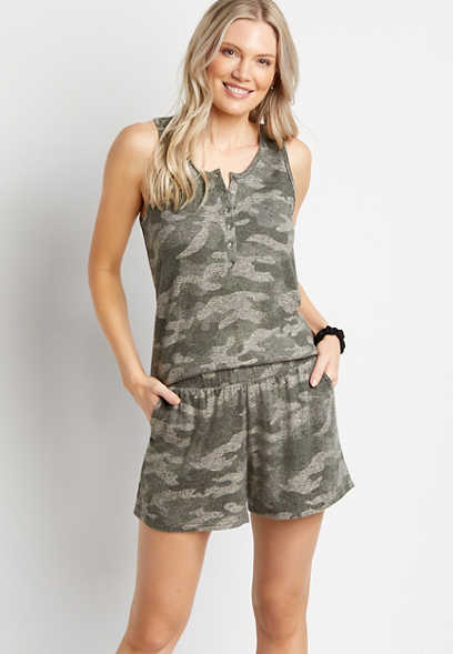 Camo Cozy Super Soft 3.5in Short