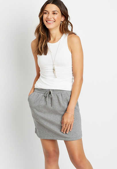 Heather Gray French Terry Skirt