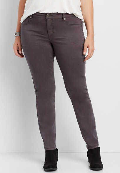 d1b32b8af99b2 DenimFlex™ plus size jegging in slate