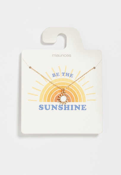 Be the Sunshine Gold Dainty Necklace