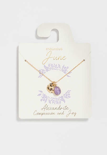 Dainty June Birthstone Necklace