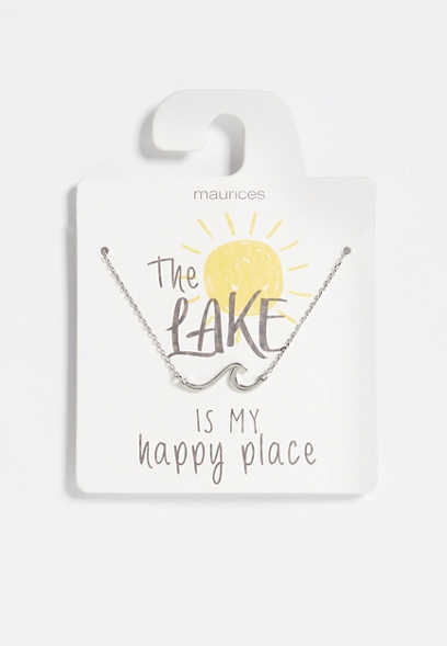 Dainty Silver Lake Necklace
