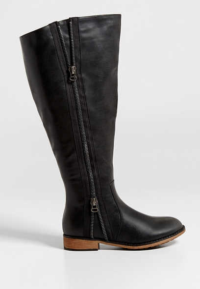 Lisa extra wide calf boot with side zipper