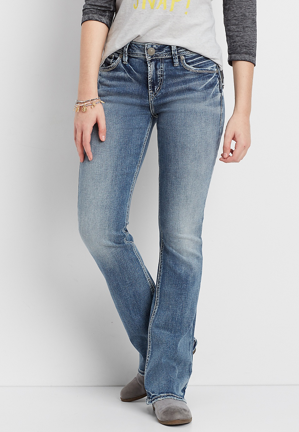 9177dc28598 Silver Jeans Co.® Avery high rise medium wash bootcut jeans