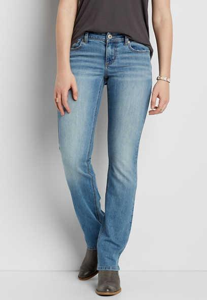 Ellie slim boot jeans in light wash