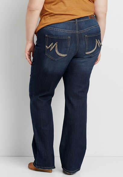 DenimFlex™ plus size slim boot dark wash jeans
