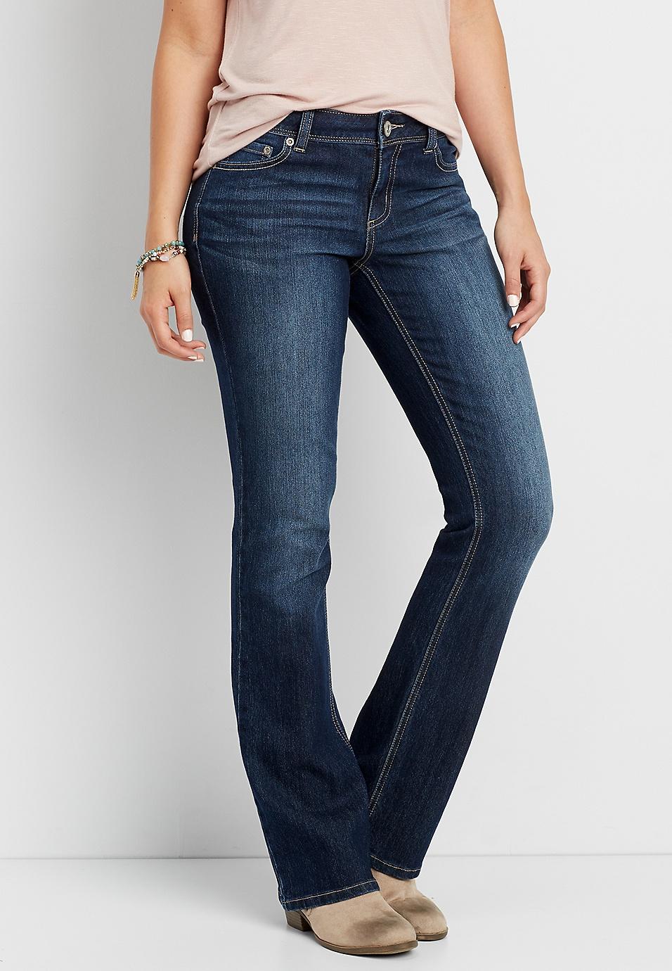 c3e46e5adb8ed DenimFlex™ dark wash bootcut jeans