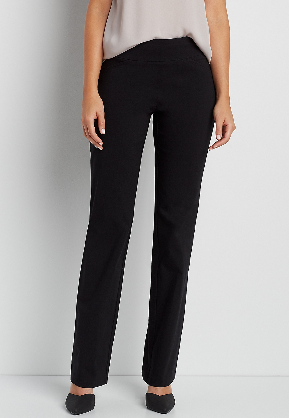 23d1617c10f the smart pull on bootcut pant in black
